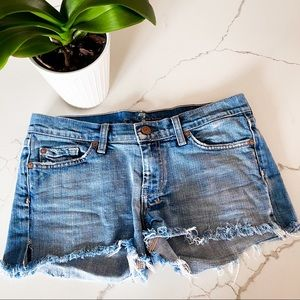 7 FOR ALL MANKIND | Light Distressed Denim Shorts
